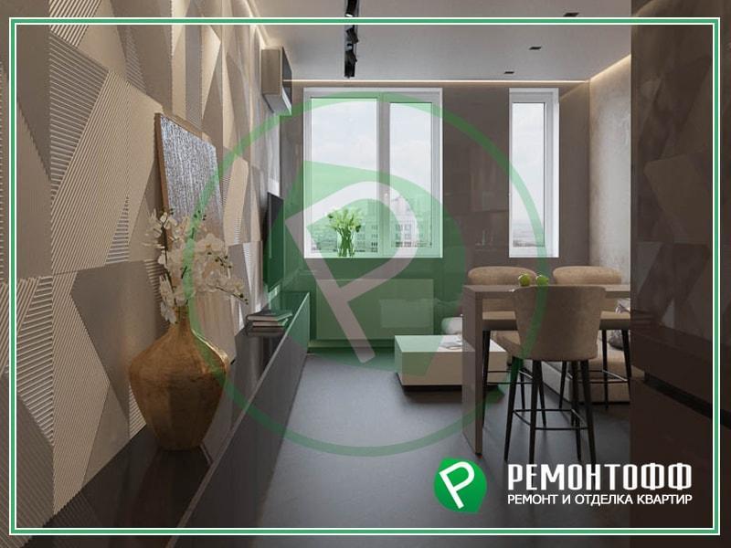 Дизайн 1-комнатной квартиры фото дизайна и отделки квартиры в Воронеже с выполнением ремонта и отделки под ключ, услуги дизайнера, цена