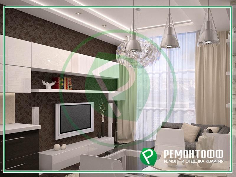 Дизайн небольшой квартиры студии фото в Воронеже, дизайн проект интерьера квартир и 3Д визуализация, услуги дизайнера с ремонтом фото, цена